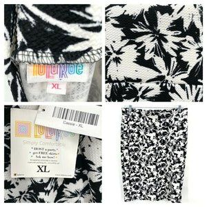 Lularoe LLR Cassie Pencil Skirt sz XL Black White